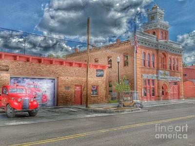 Photograph - Victor City Hall by Tony Baca