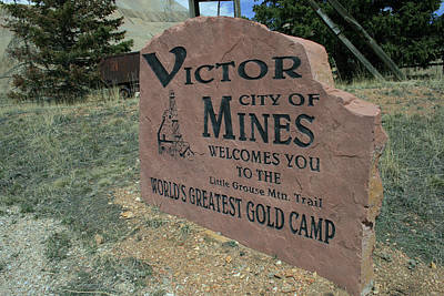 Photograph - Victor - City Of Mines by Tony Baca