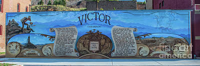 Photograph - Victor, Colorado Mural by Tony Baca