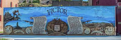 Photograph - Victor, Colorado Mural by Tony Baca
