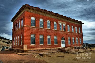 Photograph - Victor High School by Tony Baca