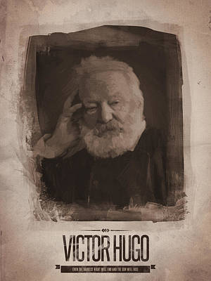 Victor Digital Art - Victor Hugo by Afterdarkness