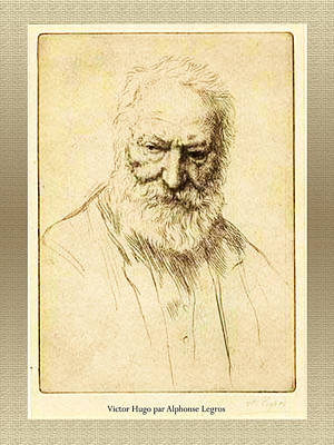 Digital Art - Victor Hugo by Asok Mukhopadhyay