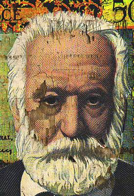 Statesman Mixed Media - Victor Hugo-cinq Cents Francs Large by Otis Porritt