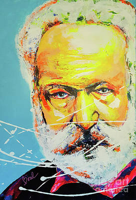 Painting - Victor Hugo by Marie-Armelle Borel