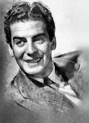 Television Painting - Victor Mature By John Springfield by John Springfield