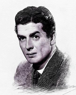 Mature Digital Art - Victor Mature, Vintage Actor by John Springfield