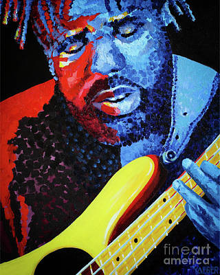 Victor Wooten Painting - Victor by Robert Yaeger