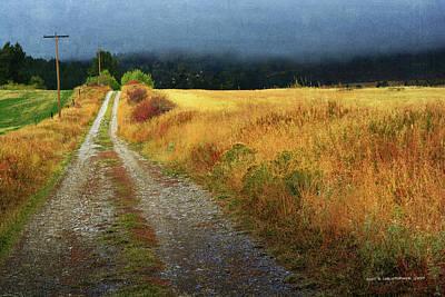 Teton Digital Art - Victor Valley Backroad by R christopher Vest