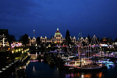 Photograph - Victoria At Night - Christmas Lights by Perggals - Stacey Turner