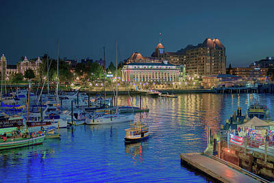 Photograph - Victoria At Night by Patricia Dennis