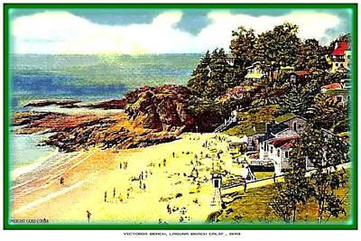 Laguna Beach Mixed Media - Victoria Beach, Laguna Beach Ca, 1949 by Dwight Goss