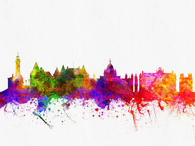 Victoria British Columbia Skyline Color02 Art Print by Aged Pixel