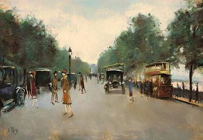 Victoria Embankment Painting - Victoria Embankment - London by Mountain Dreams