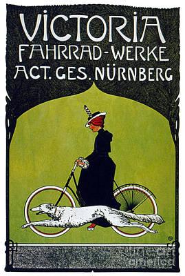 Victoria Painting - Victoria Fahrrad Werke - Nurnberg - Fritz Rehm - 1900 by Pablo Romero
