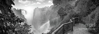 Photograph - Victoria Falls Black And White by Tim Hester
