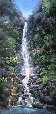 Painting - Trafalger Falls by David Bader