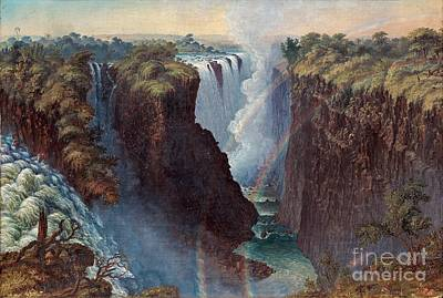 Victoria Painting - Victoria Falls by MotionAge Designs
