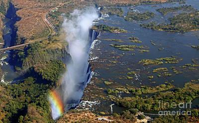 Photograph - Victoria Falls, Zambia by Wibke W