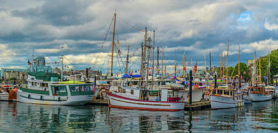 Photograph - Victoria Harbor Boats by Jason Brooks