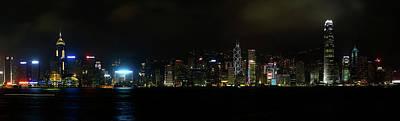 Night Scenes Photograph - Victoria Harbor by Chunsum Choi