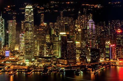 Photograph - Victoria Harbor Skyscrapers by Wilfredo R Rodriguez