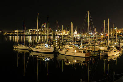 Photograph - Victoria Harbour At Night by Inge Riis McDonald