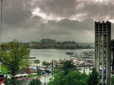 Photograph - Victoria Inner Harbor by Lawrence Christopher