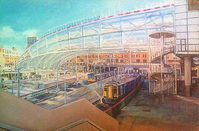 Painting - Victoria Station, Manchester, Day by Rosanne Gartner