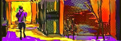 Painting - Victoria Street Walkthru by Jim Vance