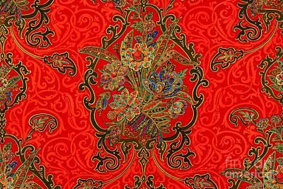 Tapestry - Textile - Victorian Art Nouveau Paisley by Peter Ogden
