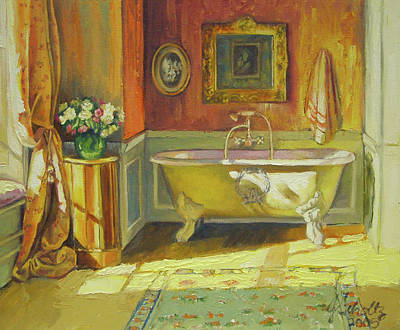 Victorian Bath Art Print by Jonel Scholtz
