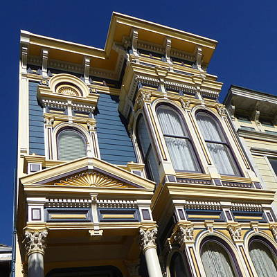 Photograph - San Francisco Victorian House - Photo Art by Peter Potter