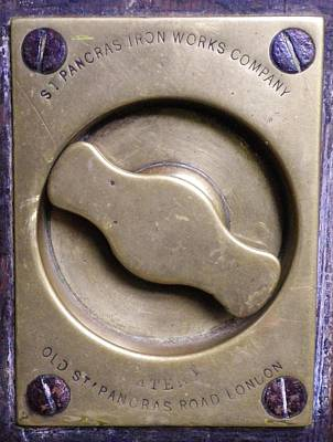 Photograph - Victorian Brass Door Handle by Richard Brookes