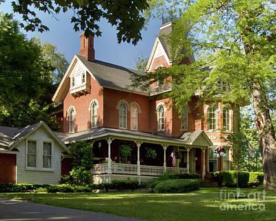 Photograph - Victorian Brick House by Tom Brickhouse