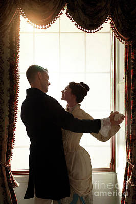 Photograph - Victorian Couple Dancing By The Window by Lee Avison