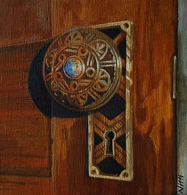 Painting - Victorian Doorknob by NJ Brockman