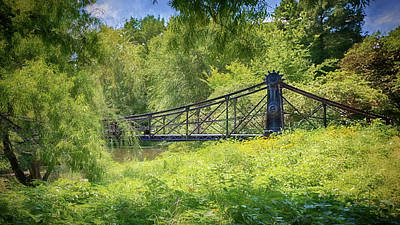 Photograph - Victorian Footbridge by Susan Rissi Tregoning