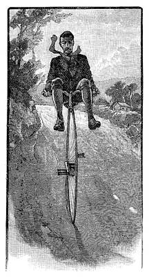 Penny Farthing Drawing - Victorian Gentleman On A Penny-farthing by Neil Baylis