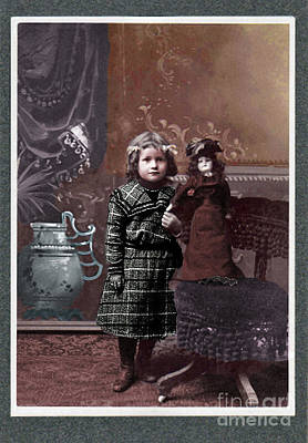 Photograph - Victorian Girl And Doll by Lyric Lucas