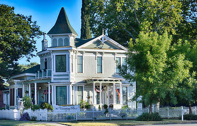 Photograph - Victorian Home by AJ Schibig