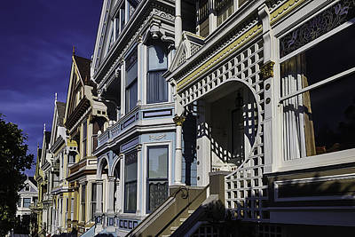 Painted Lady Photograph - Victorian Homes Detail by Garry Gay