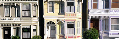 Multi Colored Photograph - Victorian Homes On Steiner Street, San by Panoramic Images