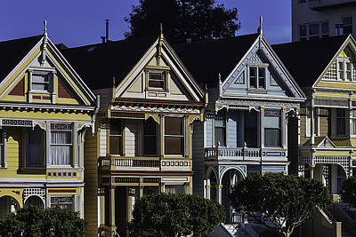 Photograph - Victorian Houses by Garry Gay