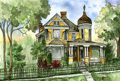 Victorian In The Avenues Original by Shelley Wallace Ylst