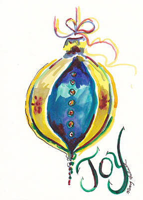 Victorian Joy Ornament Print by Michele Hollister - for Nancy Asbell