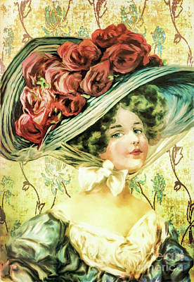 Painting - Victorian Lady by Tina LeCour