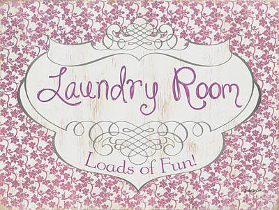 Cloth Painting - Victorian Laundry Room by Debbie DeWitt
