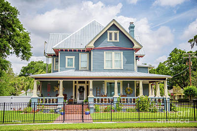 Photograph - Colorful Victorian Mansion  by Rene Triay Photography