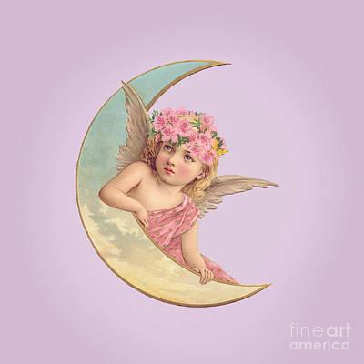 Digital Art - Victorian Moon Angel by Leah McPhail